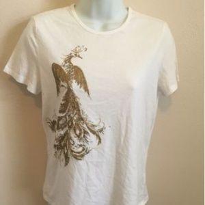 Lauren Ralph Lauren Womens Size M White T Shirt